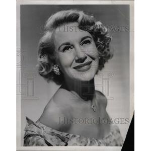 1958 Press Photo Arlene Francis American panelist show - RRW16051