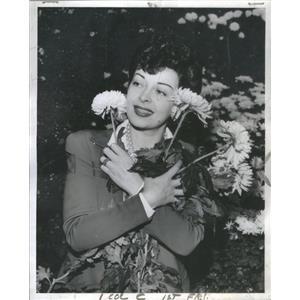 1942 Press Photo Luba Malina Actress Garfield Park Conservatory Chicago