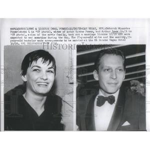 1959 Press Photo Deborah Minardos Power Widow Actor Tyrone Arthur Loew Scion