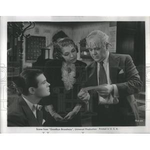 1938 Press Photo Charles Winninger Brown Brady Goodbye Broadway - RSC46379