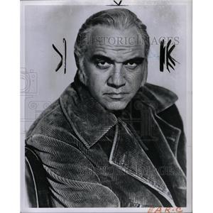 1960 Press Photo Lorne Greene Lyon Himan Bonanza actor - RRW94931