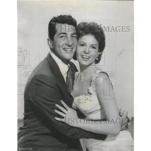1957 Press Photo Dean Martin/Eva Bartok/Actor - RSC00431