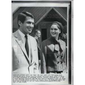 1966 Press Photo Actor George Hamilton with Future Wife - RRX59733