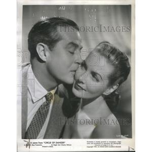 1951 Press Photo Ray Milland Patricia Roc Circle of Danger World War II
