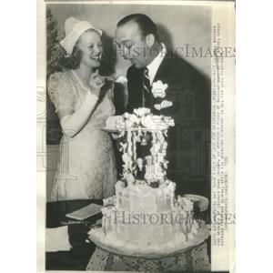 1939 Press Photo Everett Crosby Bing Brother Florence George Wedding - RSC23763