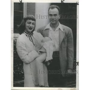 1947 Press Photo Stuart Lancaster Nancy Fleene - RSC03217