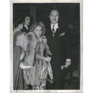1944 Press Photo William Powell American Film Actor & Wife Diana Lewis