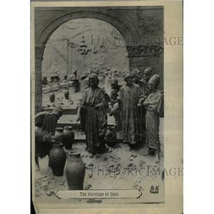1918 Press Photo Cana Marriage series DMastrienni scene - RRX72821