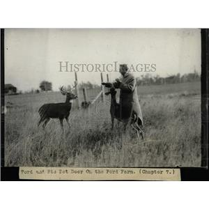 Undated Press Photo Henry Ford on his farm. - RRX62969