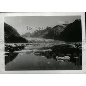 1932 Press Photo show Sawyer Glacier Alaska Picture - RRX43669
