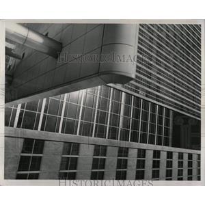 1957 Press Photo Building in Detroit Michigan