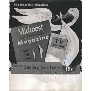 1955 Press Photo Midwest Magazine TV Prevue Chicago - RRW30945
