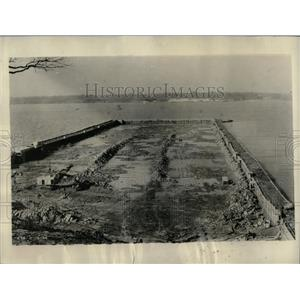 1934 Press Photo Excavation work for the power house
