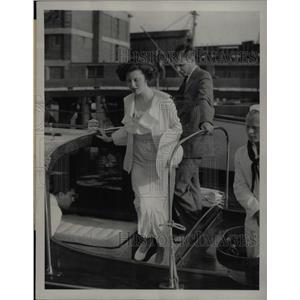 1934 Press Photo John Jacob Astor III Ellen Tuck French