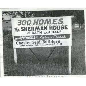 1955 Press Photo Skokie Village Real Estate Advertising