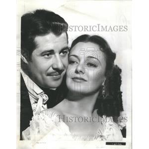 1940 Press Photo Don Ameche Andrea Leeds Movie Swanee River