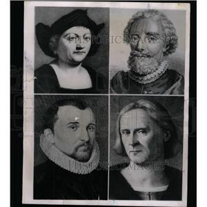 1951 Press Photo Portraits Christopher Columbus - RRY69939