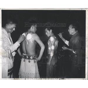 1957 Press Photo Apache Indian Dancers Tucson Festival - RRX81079