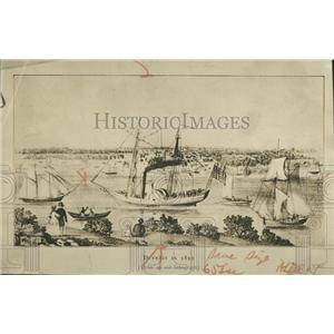 1930 Press Photo 1820 lithograph of Detroit
