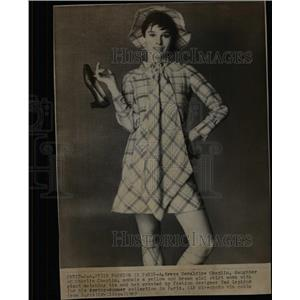 1967 Press Photo Geraldine Chaplin Actress Model Paris - RRX64175