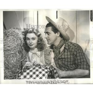 """1944 Press Photo Actors Jean Heather & Charles Quigley """"The National Barn Dance"""""""