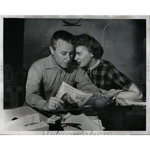 1957 Press Photo George Gobel Jeff Donell - RRW02683