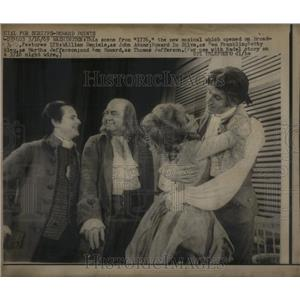 1969 Press Photo musical 1776 Daniels Howard Da Silva - RRX20573