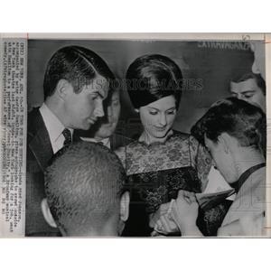 1966 Press Photo Lynda Bird Johnson George Hamilton