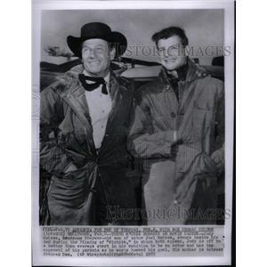 1955 Press Photo Actors Joel Jody McCrea Wichita Film - RRX32167