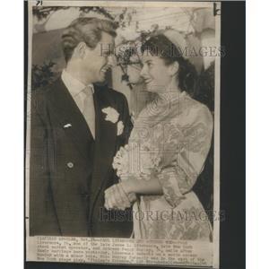 1949 Press Photo Heir Livermore Actress Murray Wedding Los Angeles - RSC15033
