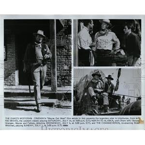 Press Photo John Wayne Rio Bravo Alaska Comancheros - RRW00985