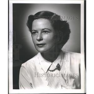 1954 Press Photo Mrs Louis Roen Radio Television Elizabeth Hart - RSC45011