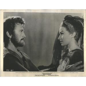 1955 Press Photo Scene From Ulysses Starring Italian Actress Silvana Mangano
