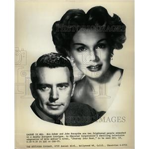1956 Press Photo Gabor and Forsythe, Journey into Fear - RRX64249