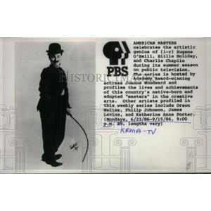 1986 Press Photo American Masters Celebration, Chaplin. - RRX43301