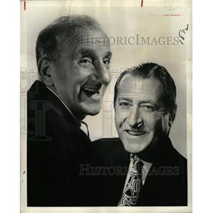 1961 Press Photo Actors Durante Como - RRX64377