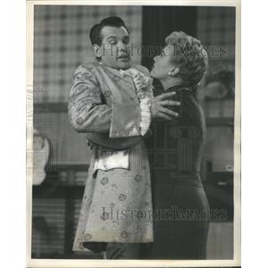 "1955 Press Photo BOB ROCKWELL AMERICAN ACTOR EVE ARDEN ""OUR MISS BROOKS """