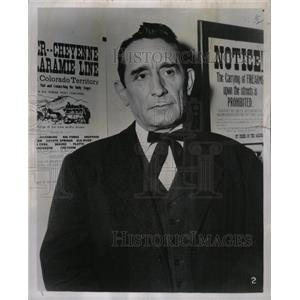 "1957 Press Photo Victor Jory ""The Lone Star Preacher"" - RRY69315"