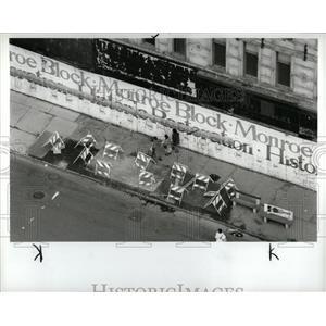 1988 Press Photo Demolition of Monroe Block Buildings