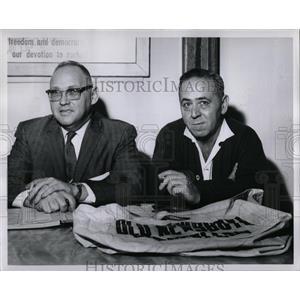 1960 Press Photo Detroit Old Newsboys Goodman Gaggin