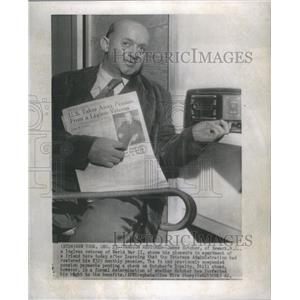 1942 Press Photo James Kutcher Legless Veteran Worker World War II Chicago