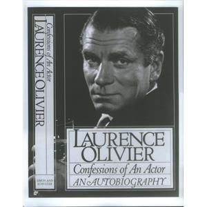 Press Photo Laurence Oliver's Confessions Of An Actor An Autobiography Cover