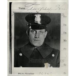 1936 Press Photo Detective Hugh Turney - RRW20535