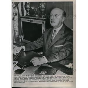 1966 Press Photo Franisco Franco,Spanish General,dictr - RRX59109