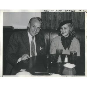 1936 Press Photo Actress Marsh With Scott Hollywood Couple Dinner - RSC99455