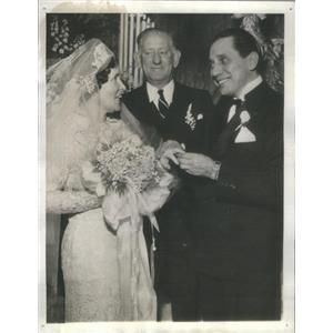1937 Press Photo OLE OLSEN AMERICAN VAUDEVILLIAN COMEDIAN WIFE LILLIAN