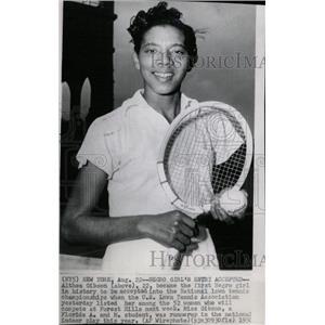1956 Press Photo Althea Gibson Lawn Tennis Association - RRW80231