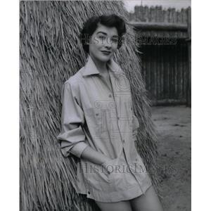 1955 Press Photo Pretty Virginia Leith Violent Saturday - RRX26989