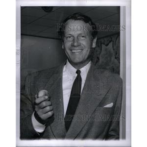 1951 Press Photo Actor Joel McCrea Santa Rosa Ranch - RRX32161