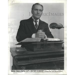 1941 Press Photo Fredric March American Stage Movie Actor - RSC06645